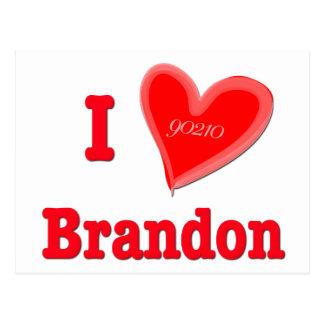 I Love Brandon Postcard