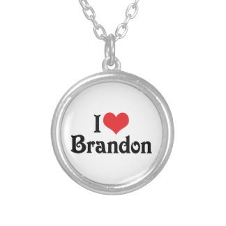 I Love Brandon Silver Plated Necklace