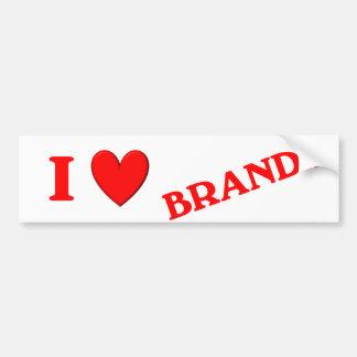I Love Brandy Car Bumper Sticker
