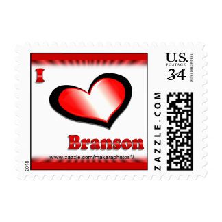 I Love Branson Heart Postage Stamp- matching cards