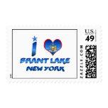 I love Brant Lake, New York Postage Stamps