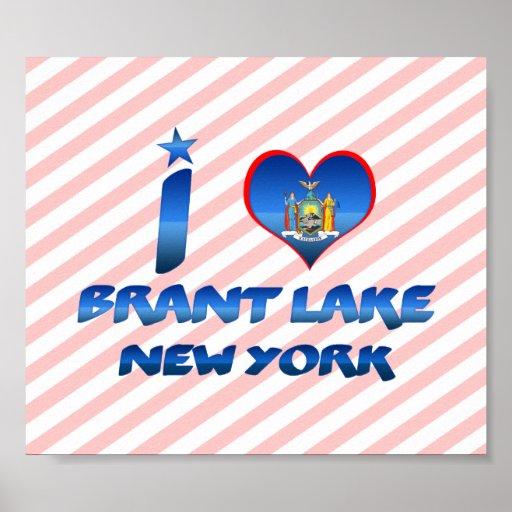 I love Brant Lake, New York Poster
