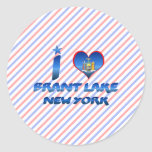 I love Brant Lake, New York Sticker