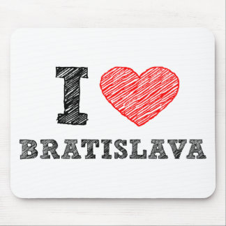 I love Bratislava Mouse Pad