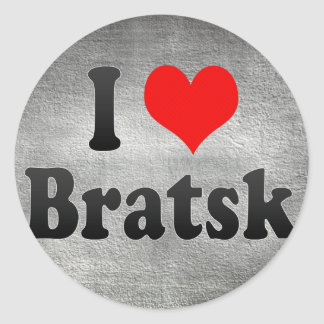 I Love Bratsk, Russia Classic Round Sticker