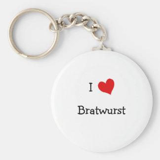 I Love Bratwurst Keychains