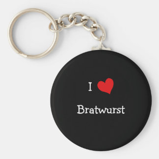 I Love Bratwurst Keychain