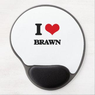 I Love Brawn Gel Mouse Pad