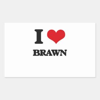 I Love Brawn Rectangular Sticker