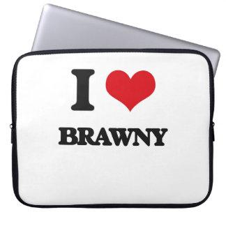 I Love Brawny Laptop Computer Sleeves