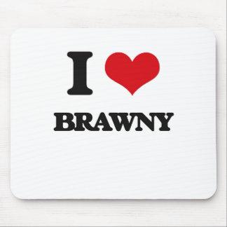 I Love Brawny Mouse Pad