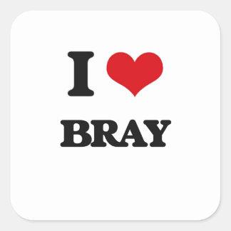 I Love Bray Square Sticker