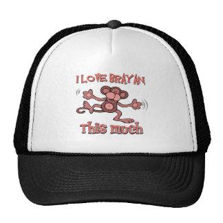 I love BRAYAN this much Trucker Hat