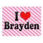 I Love Brayden Postcard
