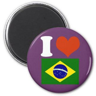 I love Brazil Fridge Magnet