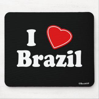I Love Brazil Mouse Pad