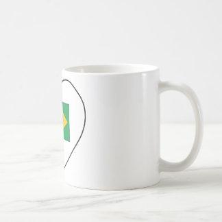 I Love Brazil Classic White Coffee Mug