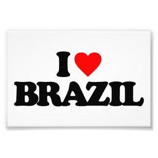 I LOVE BRAZIL PHOTO PRINT
