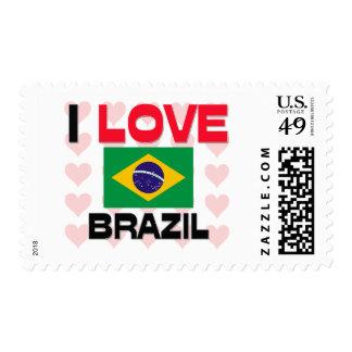 I Love Brazil Postage
