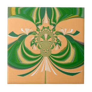 I love Brazil Yellow Green Design. Ceramic Tile