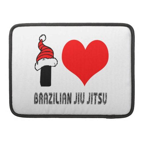 I Love Brazilian Jiu-Jitsu Design MacBook Pro Sleeves