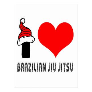 I Love Brazilian Jiu-Jitsu Design Post Card