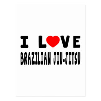 I Love Brazilian Jiu-Jitsu Martial Arts Postcard