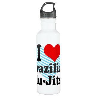 I love Brazilian Jiu-Jitsu Stainless Steel Water Bottle