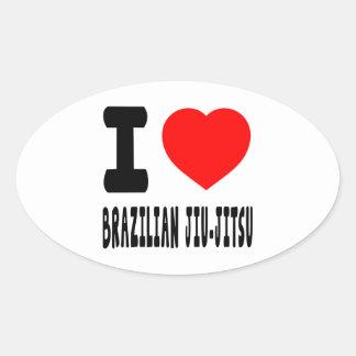 I Love Brazilian Jiu-Jitsu Sticker