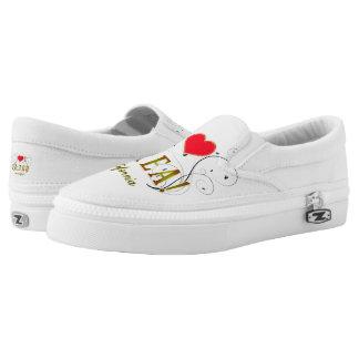 I Love Brea Ca. Zipz Slip On-Shoes US-Women Slip-On Sneakers
