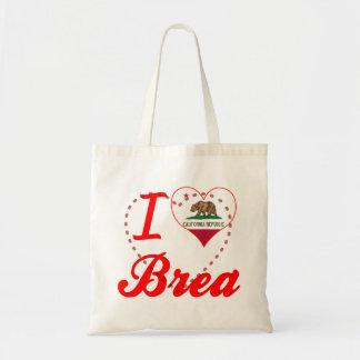 I Love Brea, California Canvas Bags