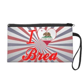 I Love Brea, California Wristlet Purses