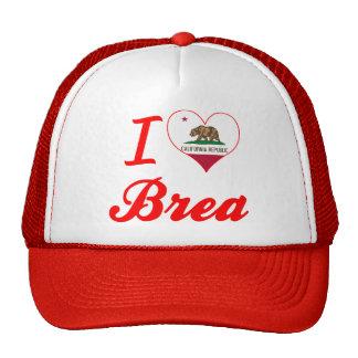 I Love Brea, California Mesh Hat