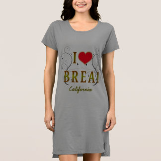 I-Love Brea Women's American Apparel T-Shirt Dress