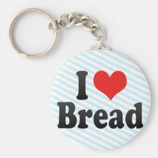 I Love Bread Basic Round Button Keychain