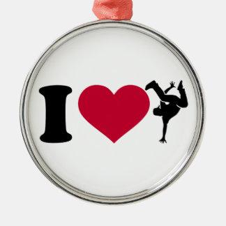 I love Breakdance Metal Ornament