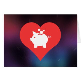 I Love Breaking Piggy Bank Card