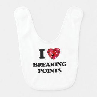 I Love Breaking Points Baby Bibs