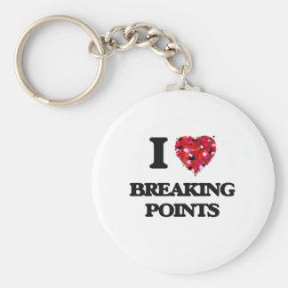 I Love Breaking Points Basic Round Button Keychain