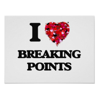 I Love Breaking Points Poster