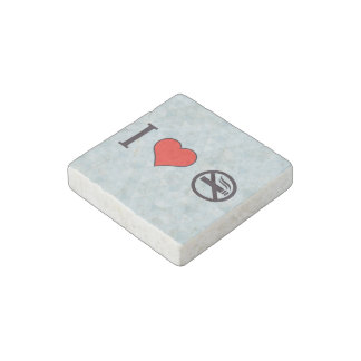 I Love Breaking Rules Stone Magnet