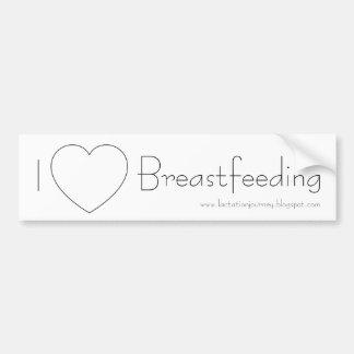 I Love Breastfeeding Bumper Sticker Car Bumper Sticker