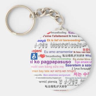 I love Breastfeeding Multi Language Basic Round Button Keychain