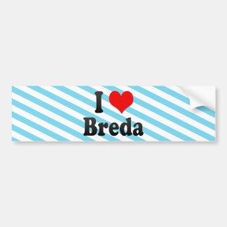 I Love Breda, Netherlands Car Bumper Sticker