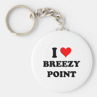 I Love Breezy Point Basic Round Button Keychain