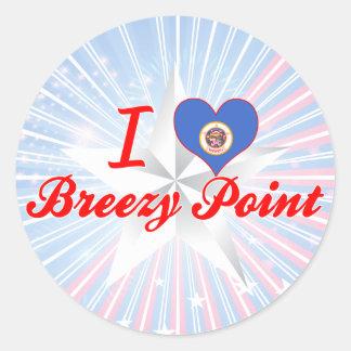 I Love Breezy Point, Minnesota Round Stickers