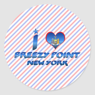 I love Breezy Point, New York Round Sticker