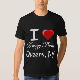 I Love Breezy Point Queens New York Relief Shirts