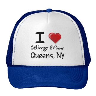 I Love Breezy Point Queens NY Relief Shirt Trucker Hat