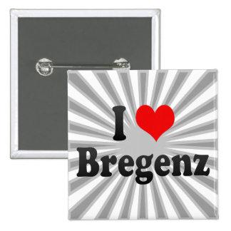 I Love Bregenz, Austria Pinback Button